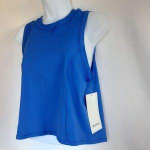 Lulemon Sheer Will Tank *Camo Blue  Size 6